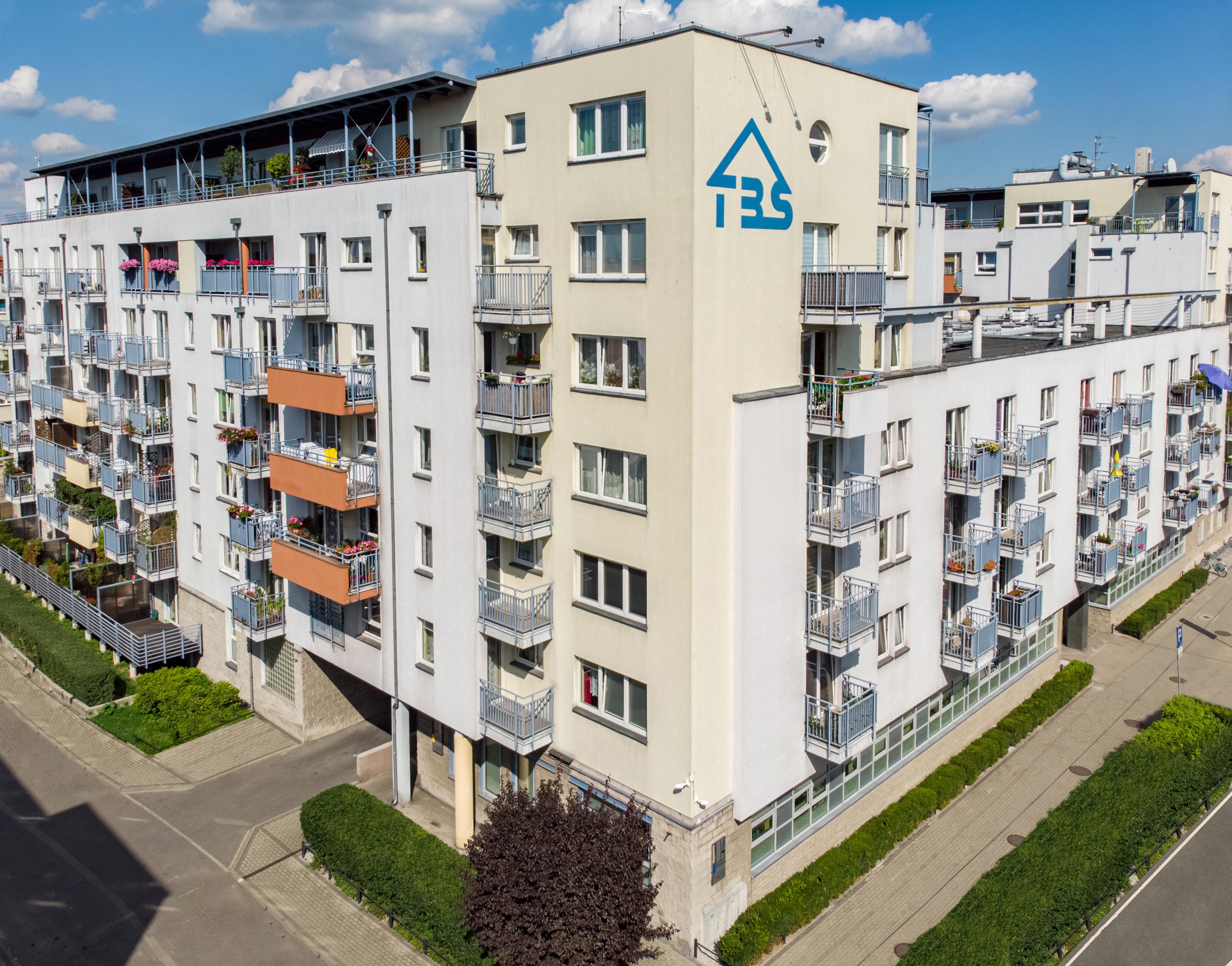 TBS Katowice - budynek z lotu ptaka