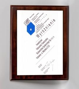 """""""Architektura Roku 2001"""" Wyróżnienie za Osiedle Mieszkaniowe Bulwary Rawy – etap I"""