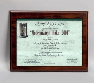 """""""Modernizacja Roku 2001"""" Nagroda w kategorii Obiekty Mieszkaniowe za budynek przy ul. Obroki 43"""